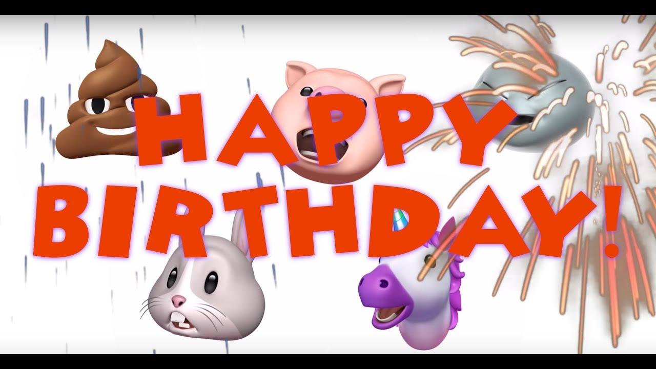 HAPPY BIRTHDAY ANIMOJI
