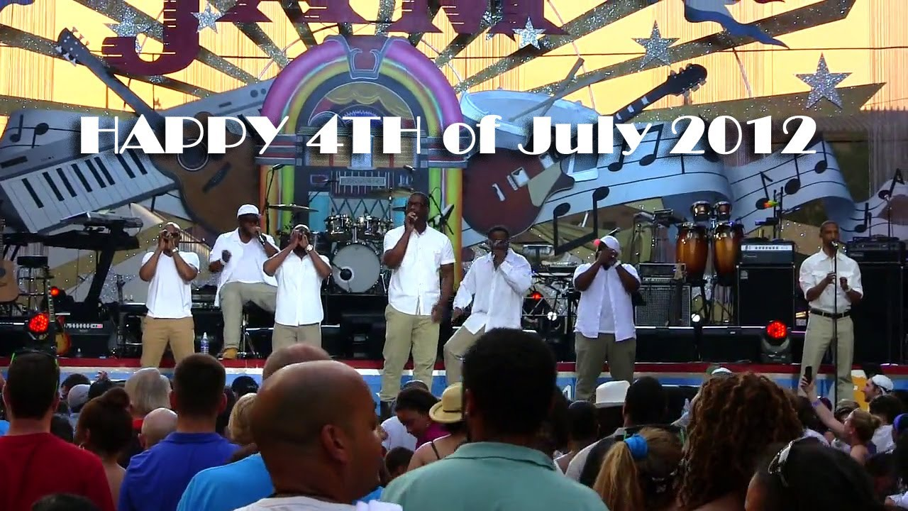 Naturally7 performing the National Anthem at Philly 4th of July Jam 2012