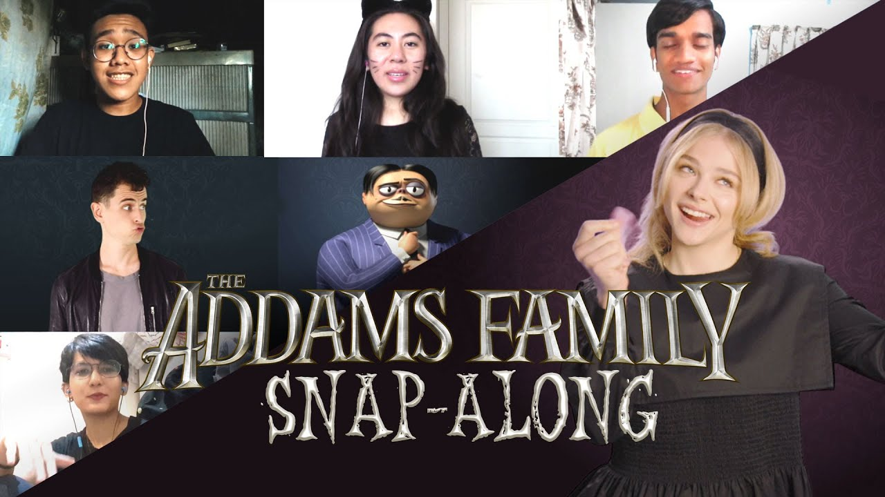The ultimate Addams Family Snap-Along theme song