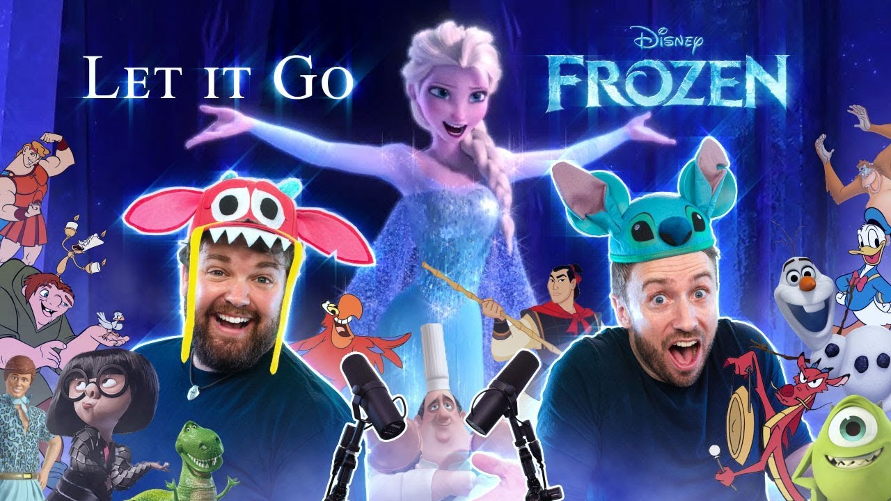 FROZEN: Let It Go – All Disney Characters SING
