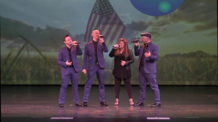 Blue Jupiter sings God Bless America
