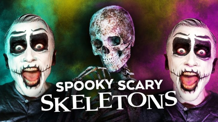 """""""Spooky Scary Skeletons"""" Made with REAL HUMAN BONES!?"""